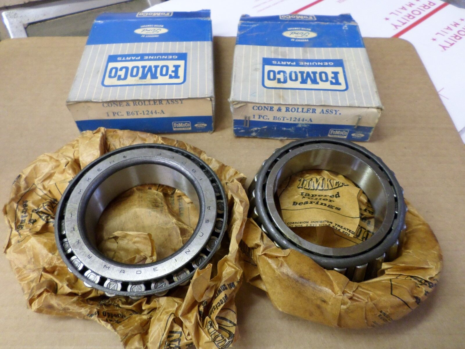 1957 1958 1960 1962 1965 ford truck nos rear inner wheel bearings B6T-1244-A