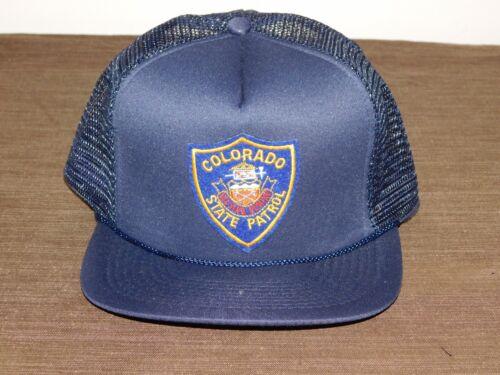 POLICE BASEBALL CAP HAT COLORADO STATE PATROL NEW UNUSED