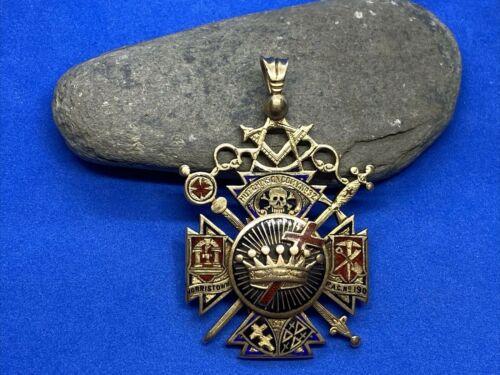 14K Gold & Enamel Masonic Charity Lodge Norristown, PA Pendant Medal 23.9 Grams!