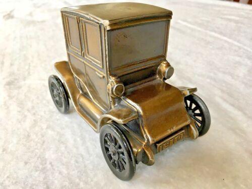 Vintage Cast Brass or Bronze Antique Car Piggy Bank