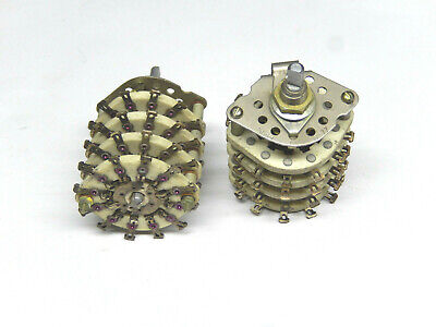 Ceramic Rotary Switches 8 Pole 5 Positions Lot Of 2pcs
