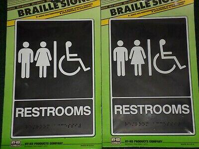 2 - Ada Compliant Restroom Signs Unisex Restroom With Wheelchair