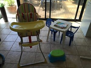 High chair and table and chairs Mindarie Wanneroo Area Preview