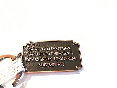 New Disneyland entrance plaque keychain
