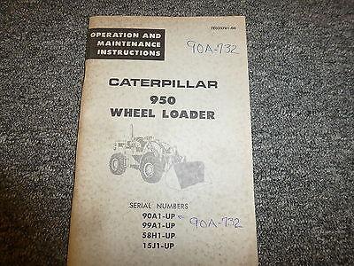 Caterpillar Cat 950 Front End Wheel Loader Owner Operator Maintenance Manual