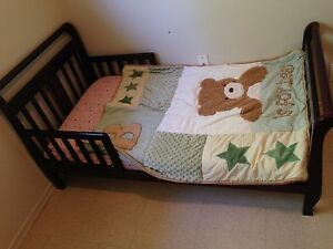 Wooden toddler sleigh bed