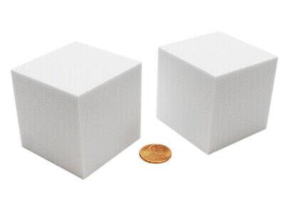 Large Foam Dice (Pack of 2 Large Jumbo 50mm Blank Foam Dice Cubes -)