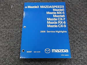 2007 mazda cx 7 service manual