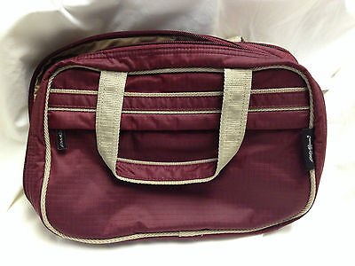 Eddie Bauer Travel Kit Bag  Zip Around with Two Sections 10 x 7 x 3 Handles