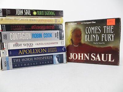 Lot of 7 Audiobooks Cassettes + 1 CD (Blind Fury): John Saul, Robin Cook...