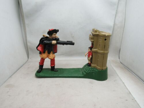 ANTIQUE VINTAGE WILLIAM TELL SHOOTING CAST IRON MECHANICAL COIN BANK