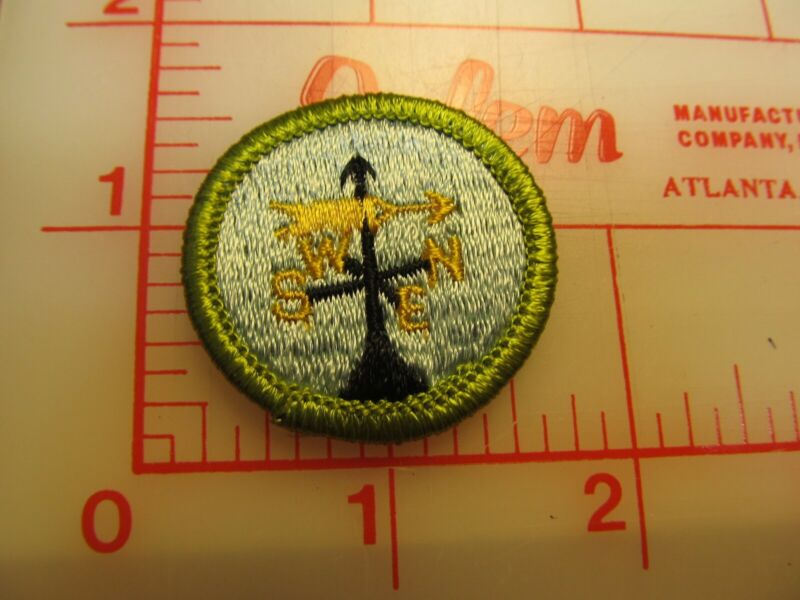 WEATHER merit badge plastic backed patch (oP)