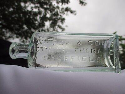 SCARCE W.M.FOX & SONS BOTANICAL PHARMACY SHEFFIELD VINTAGE CHEMIST MEDICINE BOTT
