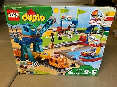 LEGO Duplo Cargo Train Building Blocks Set 10875 (105 pcs) FREE SHIPPING