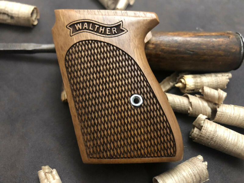 Walther PPK Turkish Walnut Wood Grips Set. Fits Interarms PPK. FAST USA SHIPPING