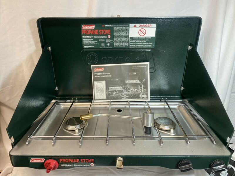 Coleman Propane Stove 5435D Electronic Ignition - Excellent Condition, W/ Manual