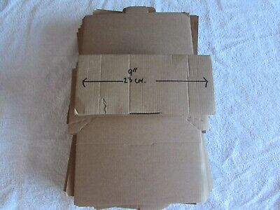 30 x Brown Die Cut small Cardboard shaped  Postal Boxes.  FREE POSTING!!