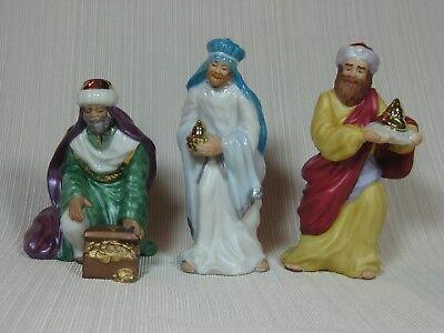 Hallmark Ornament Nativity Collection 3 Magi Melchior Balthasar Caspar Porcelain