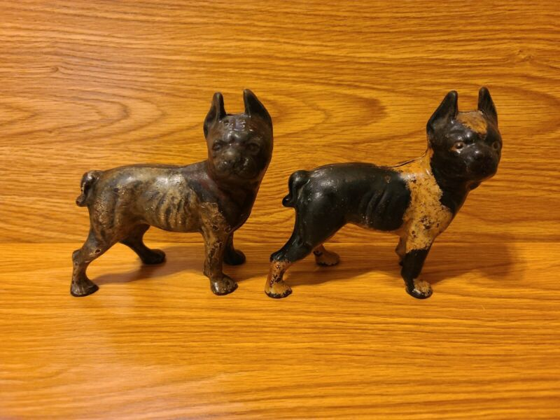 RARE CAST IRON BOSTON TERRIER DOG BANKS! MUST SEE