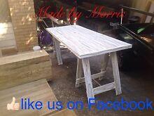 A frame trestle table Carrara Gold Coast City Preview