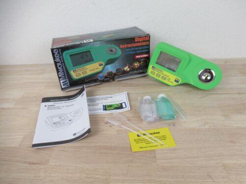 Milwaukee Instruments MA887 Digital Refractometer, Salinity Salt in Sea Water