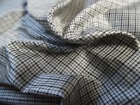 "NEW MICRO PIN STRIPE~GREY//BLACK~SILK TISSUE TAFFETA~DOLL/'s~9/""x22/""~MINIATURES"