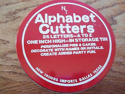 NEW Trends Alphabet Dough Cutters  26-Piece -