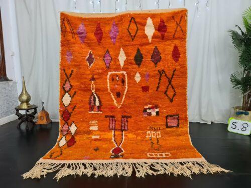 Vintage Moroccan Boujaad Handmade Rug 4