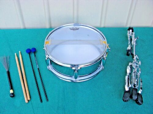 Remo Ambassador Snare Side Drum with Stand and Sticks