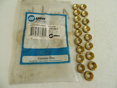 Qty 2 Pieces Miller 195381 Brass Washer For Powcon Stud Welder Gun
