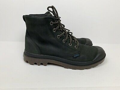 Palladium Mens 9 Pampa Hi Lite Leather Gusset Boots Waterproof Black
