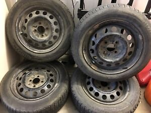 Honda accent winter tires and rims