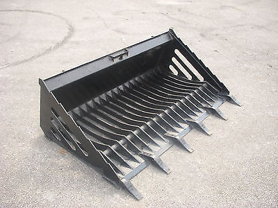 Bobcat Skid Steer Attachment - 66 Rock Skeleton Bucket With Teeth - Ship 179