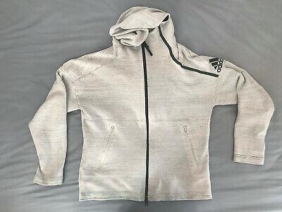 Adidas Primeknit Sports Hoodie Light Grey Soft Fabric not Nike Asics