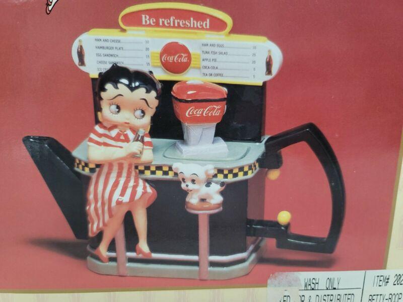 Betty Boop Premiere Edition Teapot Coca Cola