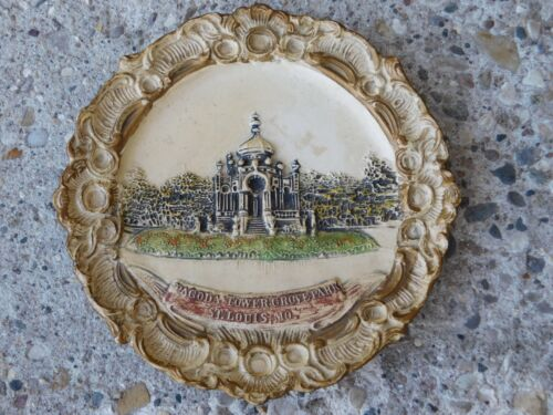 ANTIQUE EARLY 1900s TERRA COTTA PLATE PAGODA TOWER GROVE PARK ST.LOUIS,MISSOURI