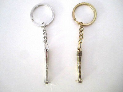 2 Dental Handpiece Shaped Key Chains Metal For Dentist Dental Asistant Gifts
