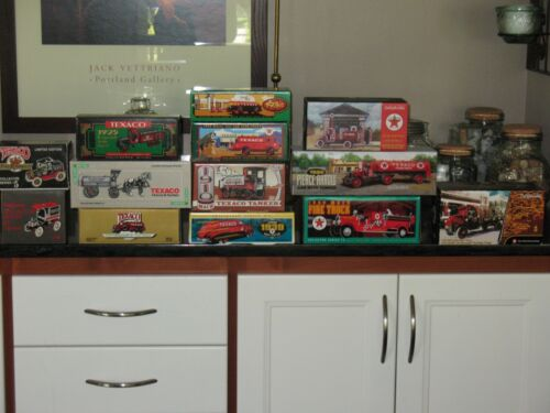 ERTL Texaco Diecast Trucks Bank 13 Box Lot, Limited Edition Collector Series Oil