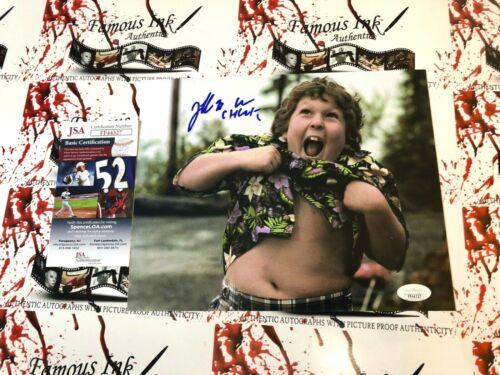 Jeff Cohen JSA Autographed 8x10 Truffle Shuffle The Goonies Photo W/Chunk Inscpt