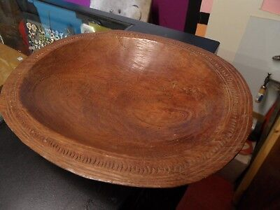 antique hand carved Kwila wood bowl Trobriand islands