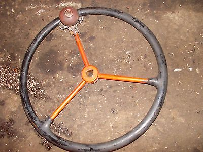 Allis Chalmers C Tractor Ac Steering Wheel W Spinner Knuckler