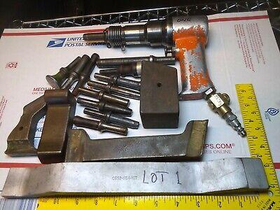 Rivet Gun Apt 3x Bucking Bar Set Aircraft Rv 4 Homebuilt Usa Tested Good Lot 1