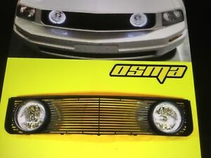 Osma Grill and Fog Lights Ford Mustang  - GL-FM05-BK