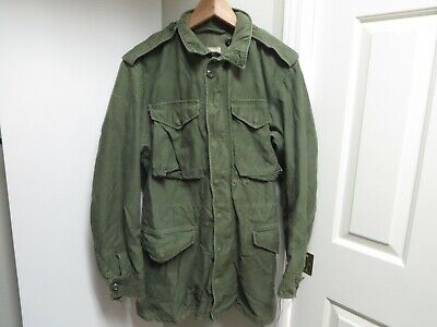 Vintage M1951 Military Field Jacket Long Small