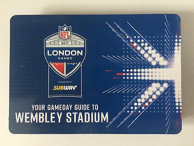 NFL 2017 LONDON GAMEDAY WEMBLEY GUIDE RAVENS v JAGUARS & SAINTS v DOLPHINS