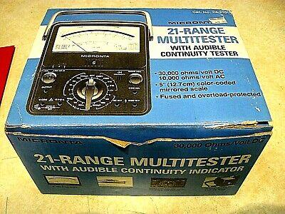 New Micronta Multitester 21-range Multimeter 22-210 Vintage And Still New