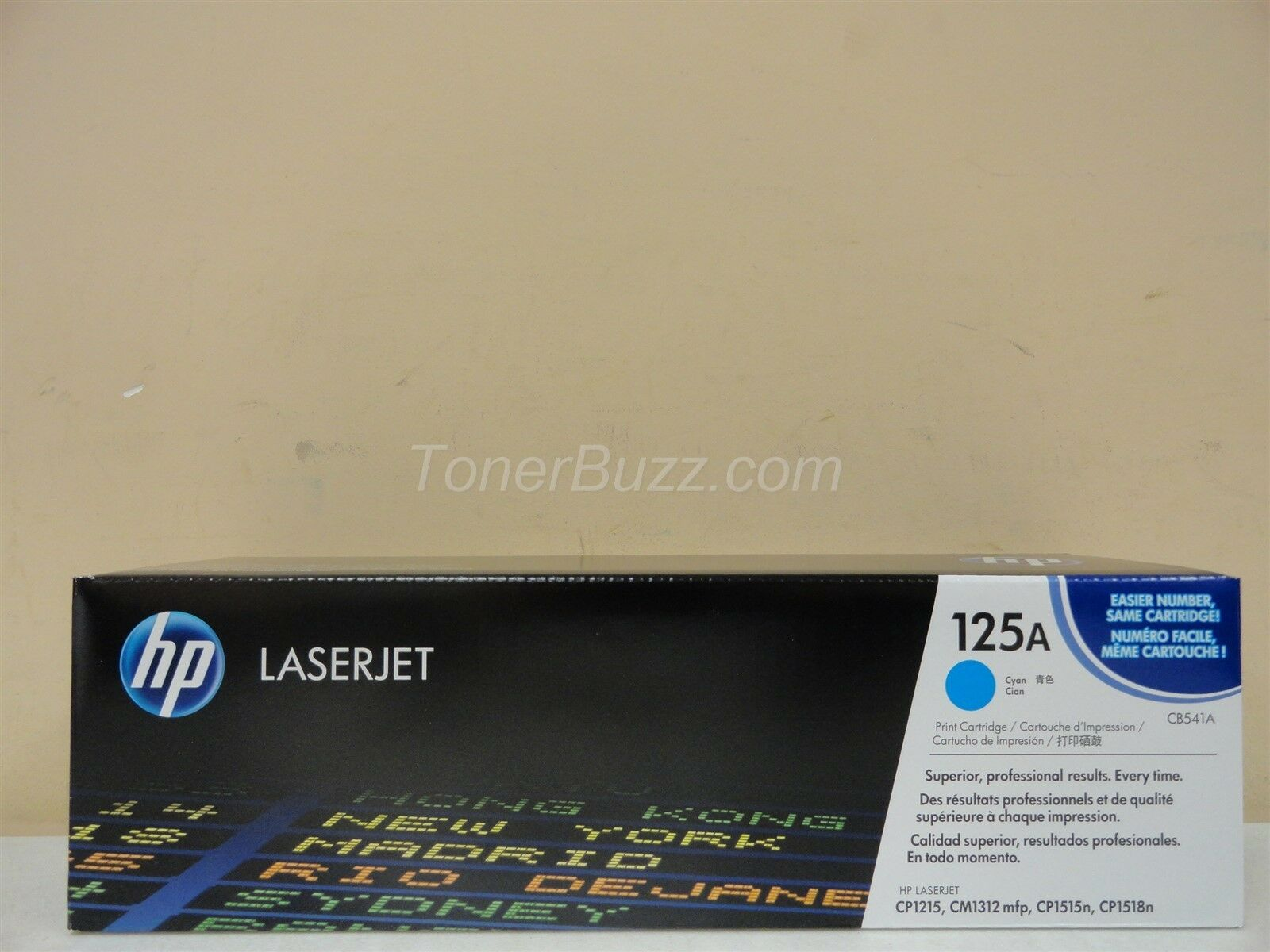 Compatible CB541A 125A Cyan Toner For HP Color LaserJet CM1312 CP1215 CP1515n
