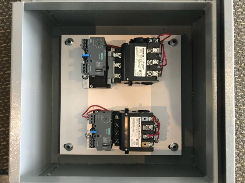 Siemens Motor Starter Panel. (1) 25 HP (1) 10 HP
