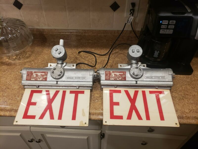 Crouse Hinds EXL21A Explosion Proof Exit Sign 120VAC---2 Available!