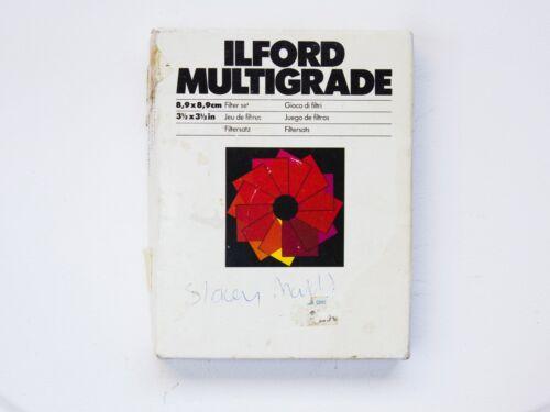 "Ilford Multigrade Set of Filters 3.5"" x 3.5"" / 8.9 x 8.9 cm"